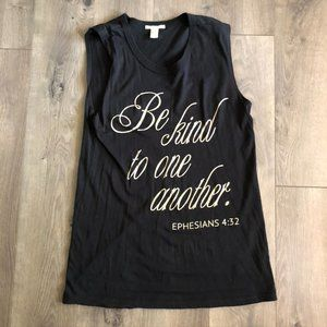 Be Kind To one another Sleeveless Tank Size: S